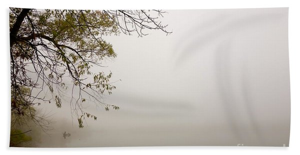 Beach Towel featuring the photograph Autumn Mist by Jacqueline Athmann