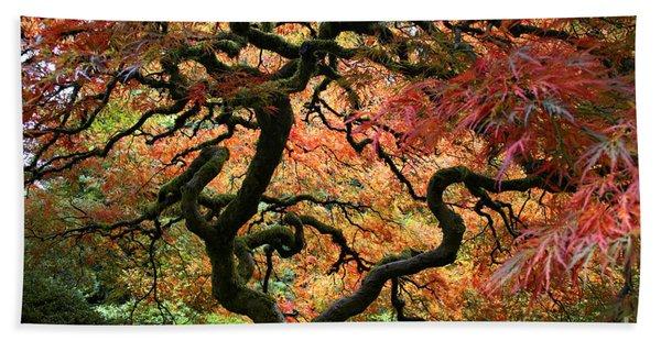 Autumn's Fire Beach Towel