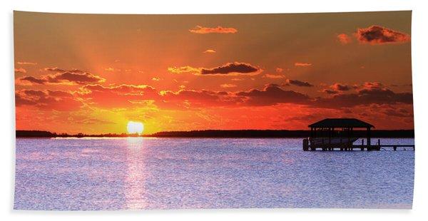 Back Bay Sunrise Beach Towel