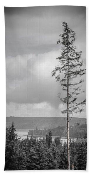 Tall Tree View Beach Towel