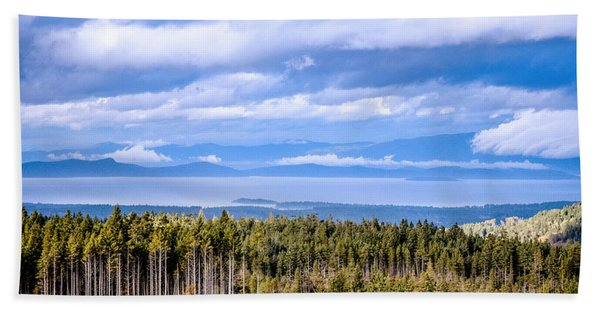 Johnstone Strait High Elevation View Beach Towel