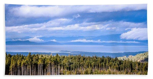 Johnstone Strait High Elevation View Beach Sheet