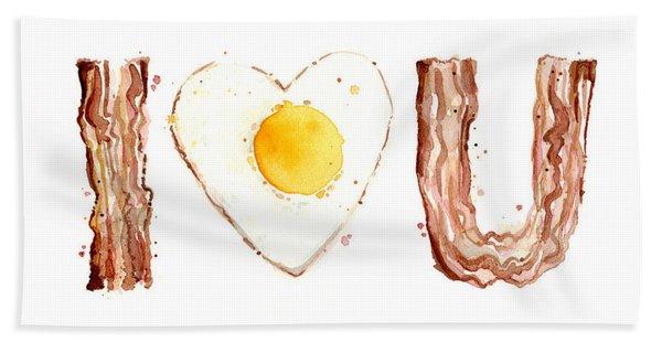 Bacon And Egg Love Beach Towel