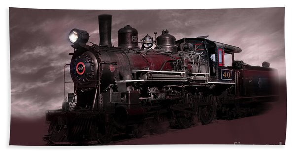 Beach Towel featuring the photograph Baldwin 4-6-0 Steam Locomotive by Gunter Nezhoda