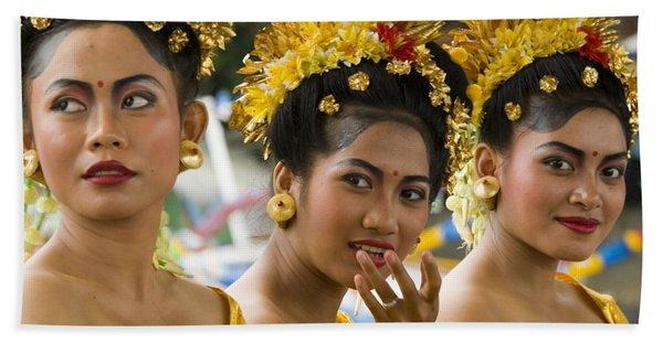Balinese Dancers Beach Towel