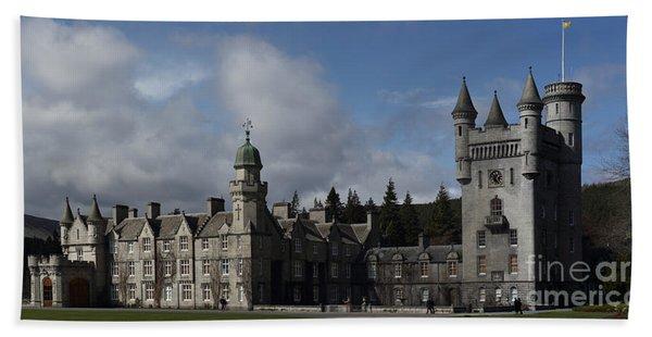 Balmoral Castle In A Closeup Panorama Beach Sheet