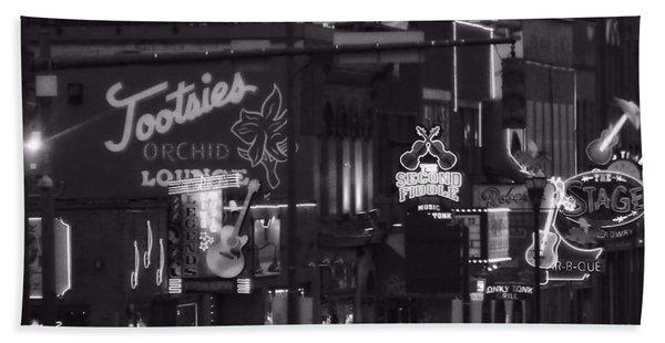 Bars On Broadway Nashville Beach Towel