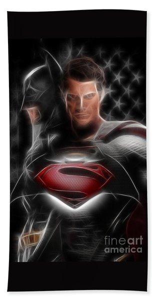 Batman Vs Superman  Beach Towel