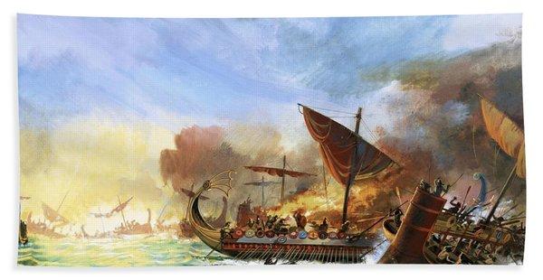 Battle Of Salamis Beach Towel
