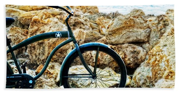 Beach Cruiser - Bicycle Art By Sharon Cummings Beach Towel