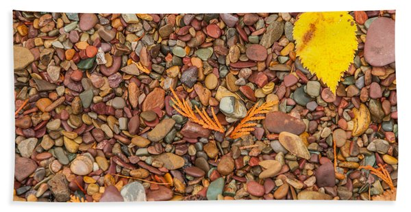 Beach Pebbles Of Montana Beach Towel
