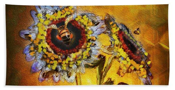 Bees To Honey Beach Towel
