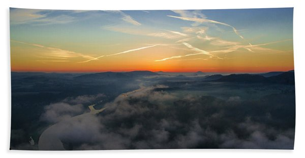 Before Sunrise On The Lilienstein Beach Towel