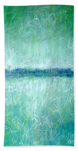Between The Sea And Sky - Green Seascape Beach Towel