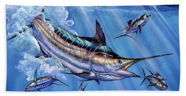 Big Blue And Tuna Beach Towel