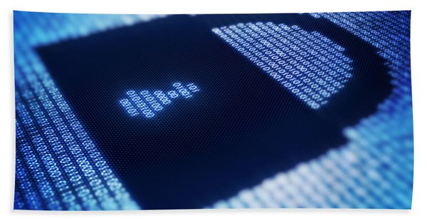 Electronic Data Security Beach Towel