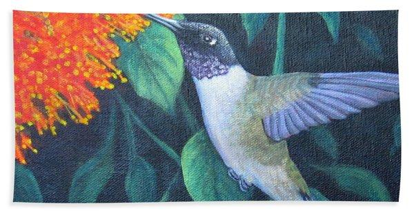 Black-chinned Hummingbird Beach Towel