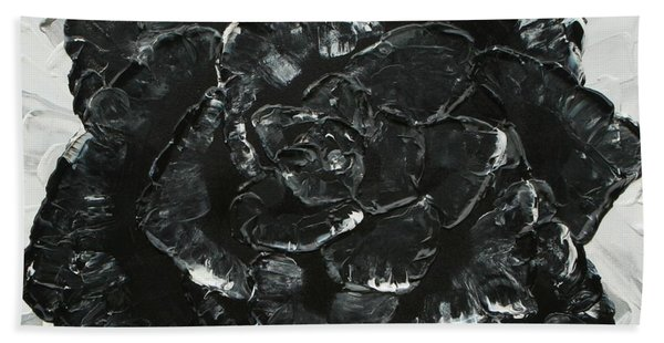 Black Rose I Beach Towel