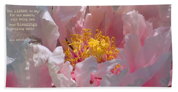 Blessings And Blossoms  Beach Towel