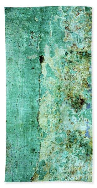 Blue Green Wall Beach Towel