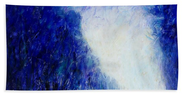 Blue Landscape - Abstract Beach Towel