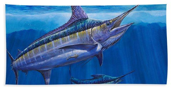 Blue Marlin Bite Off001 Beach Towel