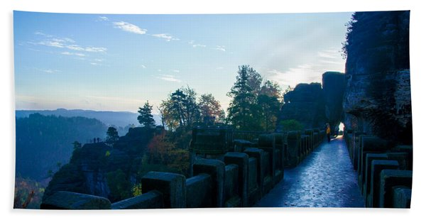 Blue Morning On The Bastei Beach Towel
