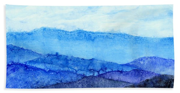 Blue Ridge Mountains Beach Towel