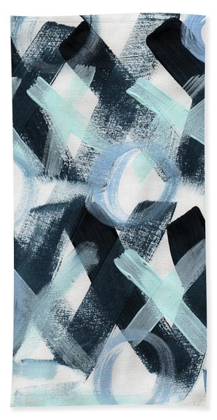 Blue Valentine- Abstract Painting Beach Towel
