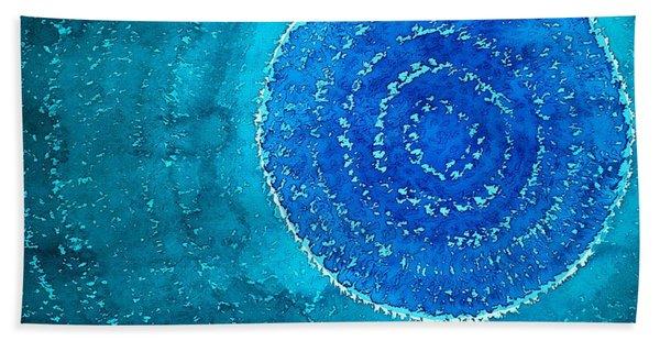 Blue World Original Painting Beach Sheet