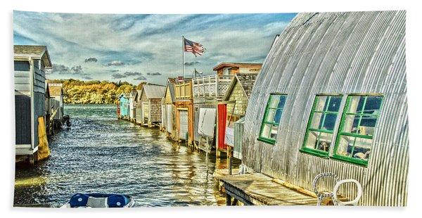 Boathouse Alley Beach Towel