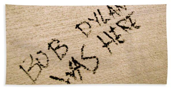 Beach Towel featuring the photograph Bob Dylan Graffiti by Jacqueline Athmann