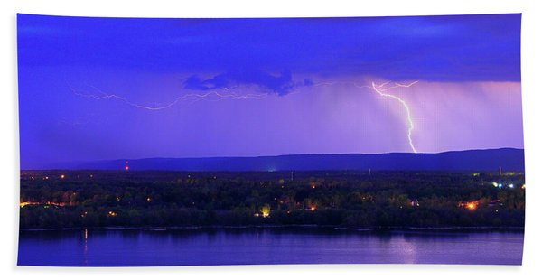 Bolt Over Gatineau Hills  Beach Towel
