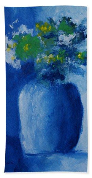 Bouquet In Blue Shadow Beach Sheet