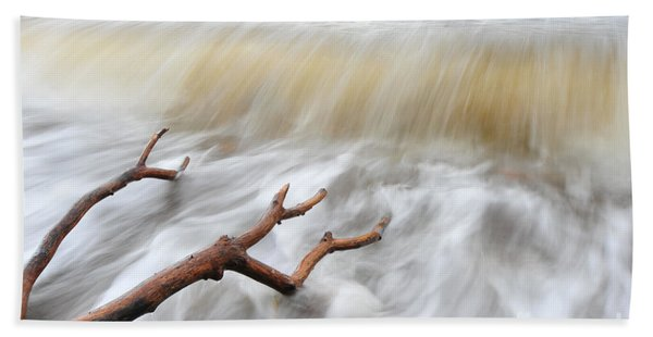 Branches In Water Beach Towel