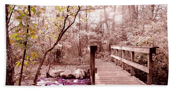 Bridge To Utopia  Beach Towel