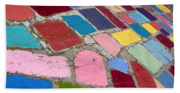 Bright Paving Stones Beach Towel