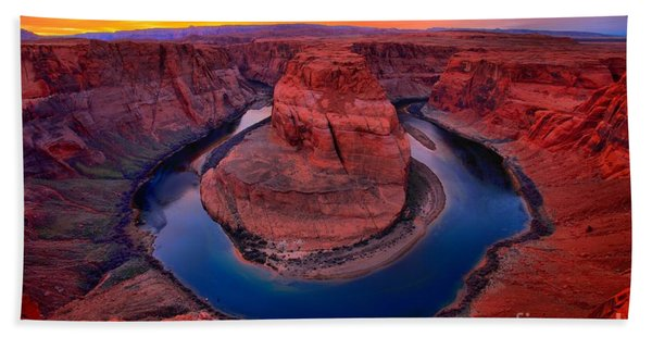 Bright Skies Over Horseshoe Beach Towel