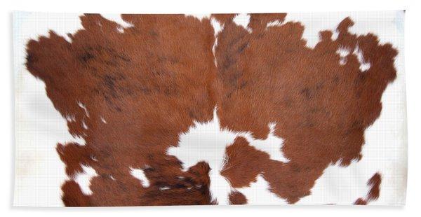 Beach Towel featuring the photograph Brown Cowhide by Gunter Nezhoda
