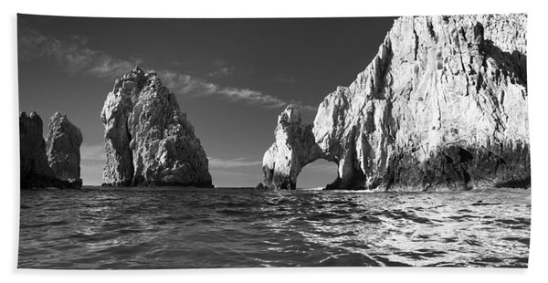 Cabo In Black And White Beach Towel