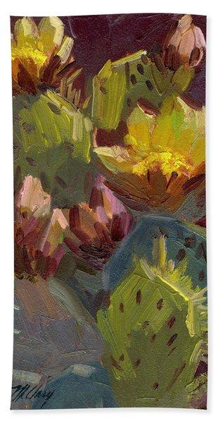 Cactus In Bloom 1 Beach Towel