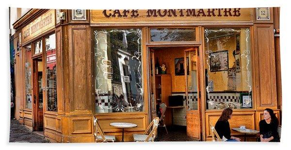 Cafe Montmartre Beach Towel