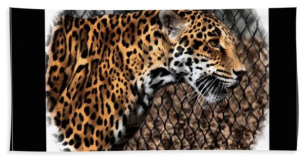 Caged Jaguar Beach Towel