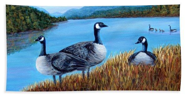 Canada Geese - Lake Lure Beach Towel