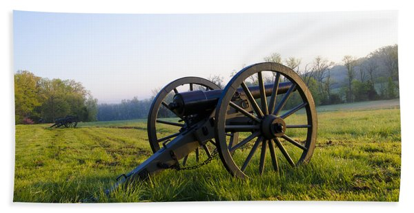 Cannons In A Field At Gettysburg Beach Towel