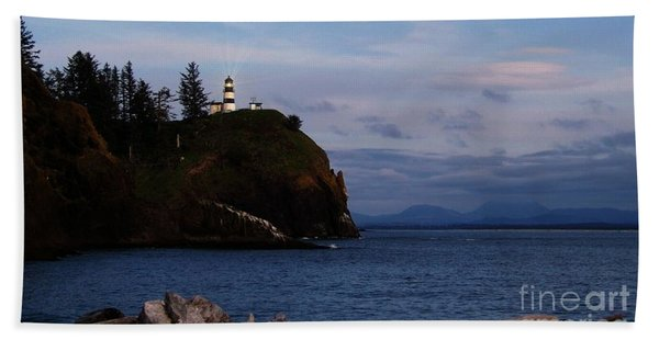 Cape Disappointment Light Beach Towel