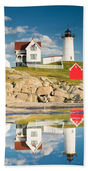 Cape Neddick Light  Reflections Beach Towel