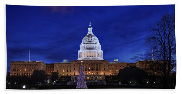 Capitol Christmas - 2013 Beach Towel
