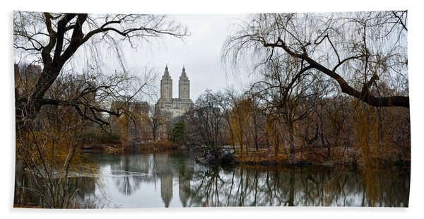 Central Park And San Remo Building In The Background Beach Towel