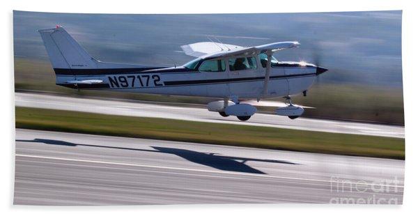 Cessna Takeoff Beach Towel